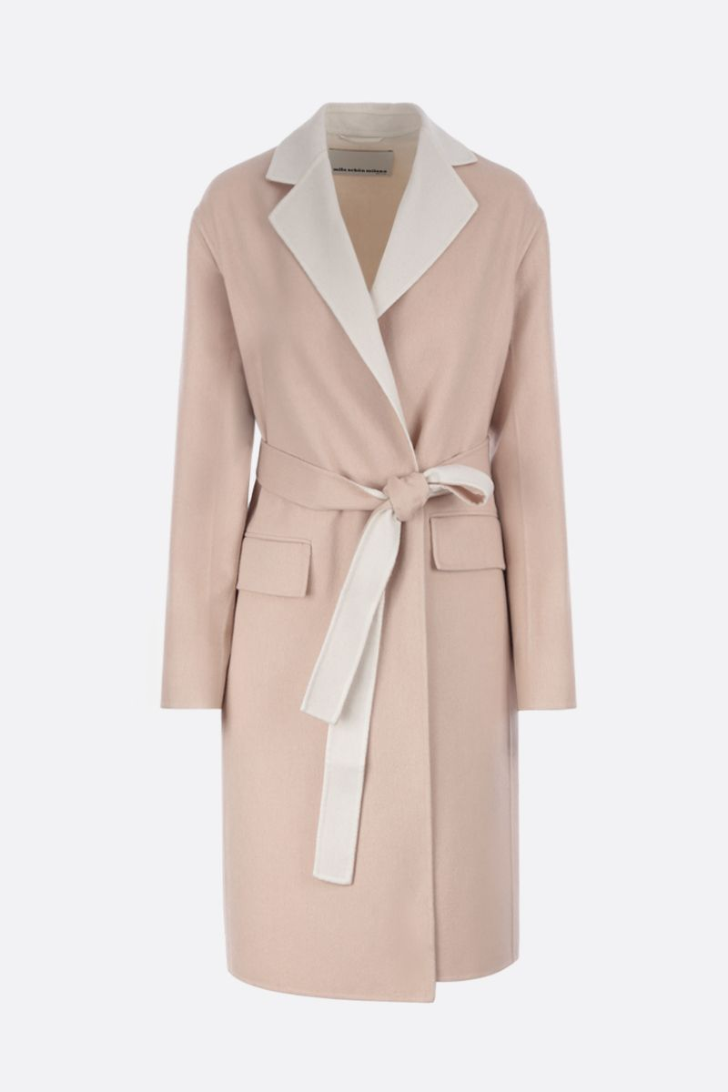 MILA SCHON: wool cashmere silk blend wrap coat_1