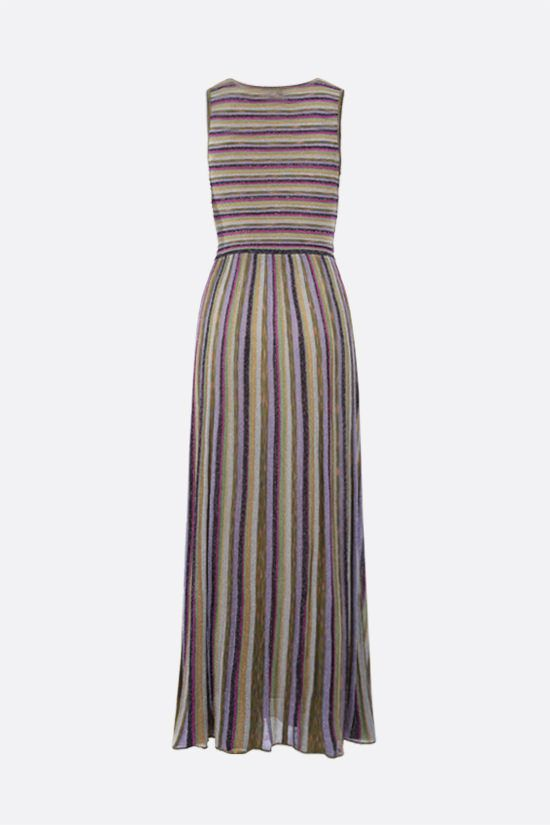 M MISSONI: striped lightweight knit sleeveless dress Color Multicolor_2