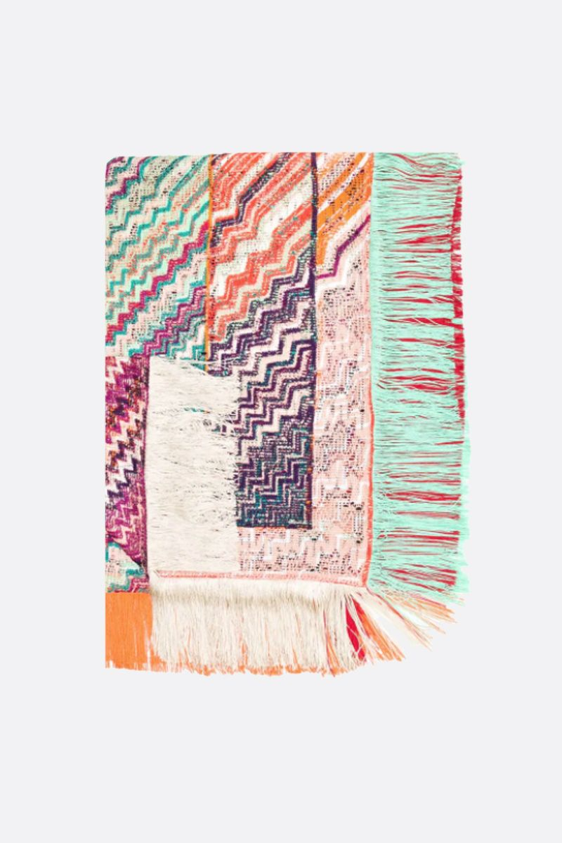MISSONI: zigzag knit shawl Color Red_1