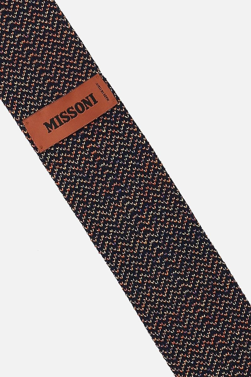 MISSONI: cotton silk jacquard tie Color Yellow_2