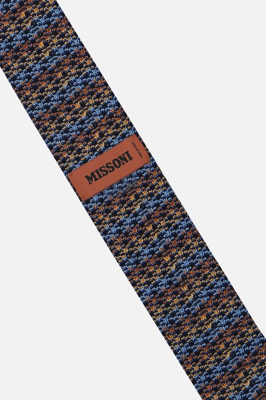 MISSONI: cotton silk knit tie Color Multicolor_2