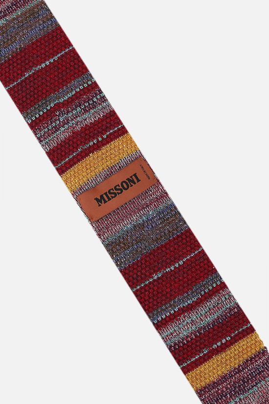 MISSONI: striped cotton silk knit tie Color Multicolor_2