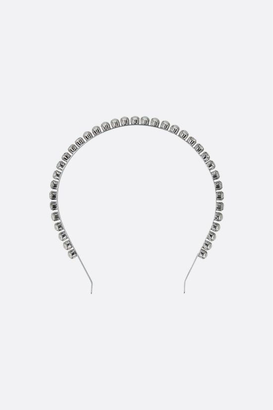 MIU MIU: crystal and pearl-embellished brass headband Color Neutral_1