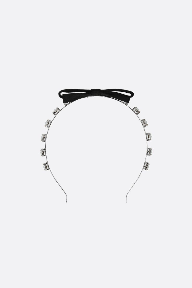 MIU MIU: crystal-embellished metal headband Color Black_1