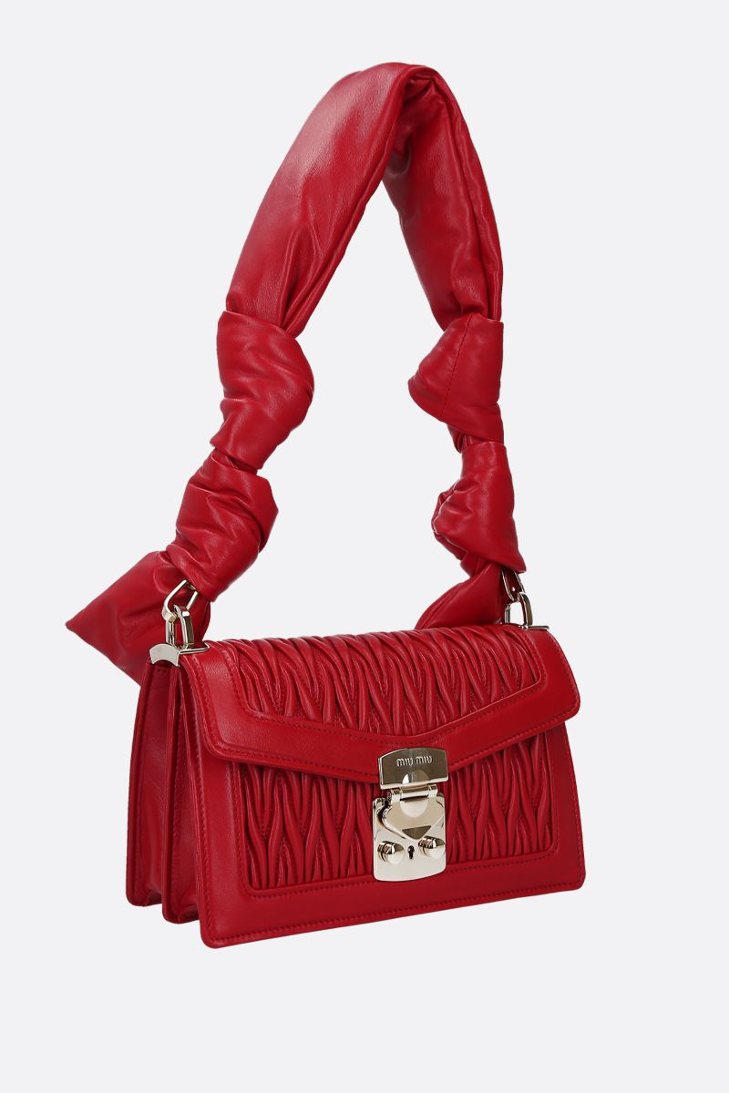 MIU MIU: Miu Confidential quilted nappa shoulder bag Color Red_3