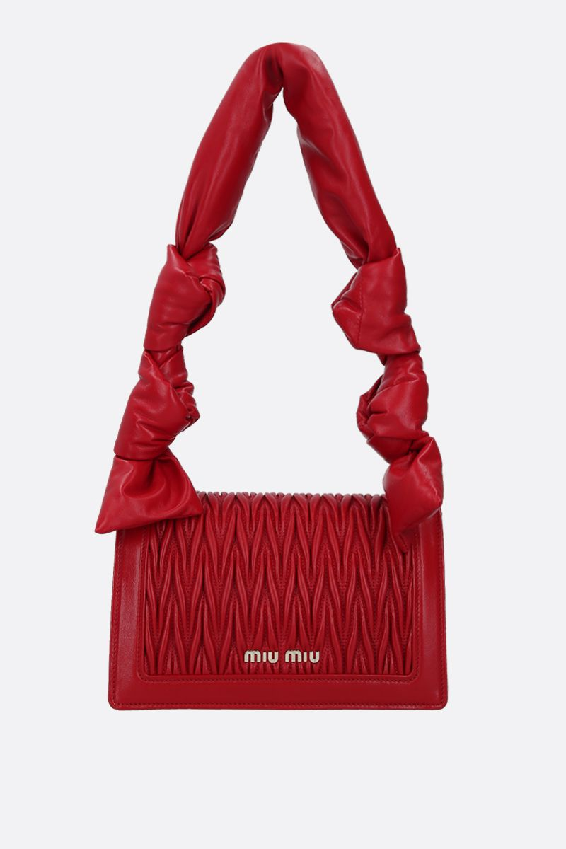 MIU MIU: Miu Confidential quilted nappa shoulder bag Color Red_4