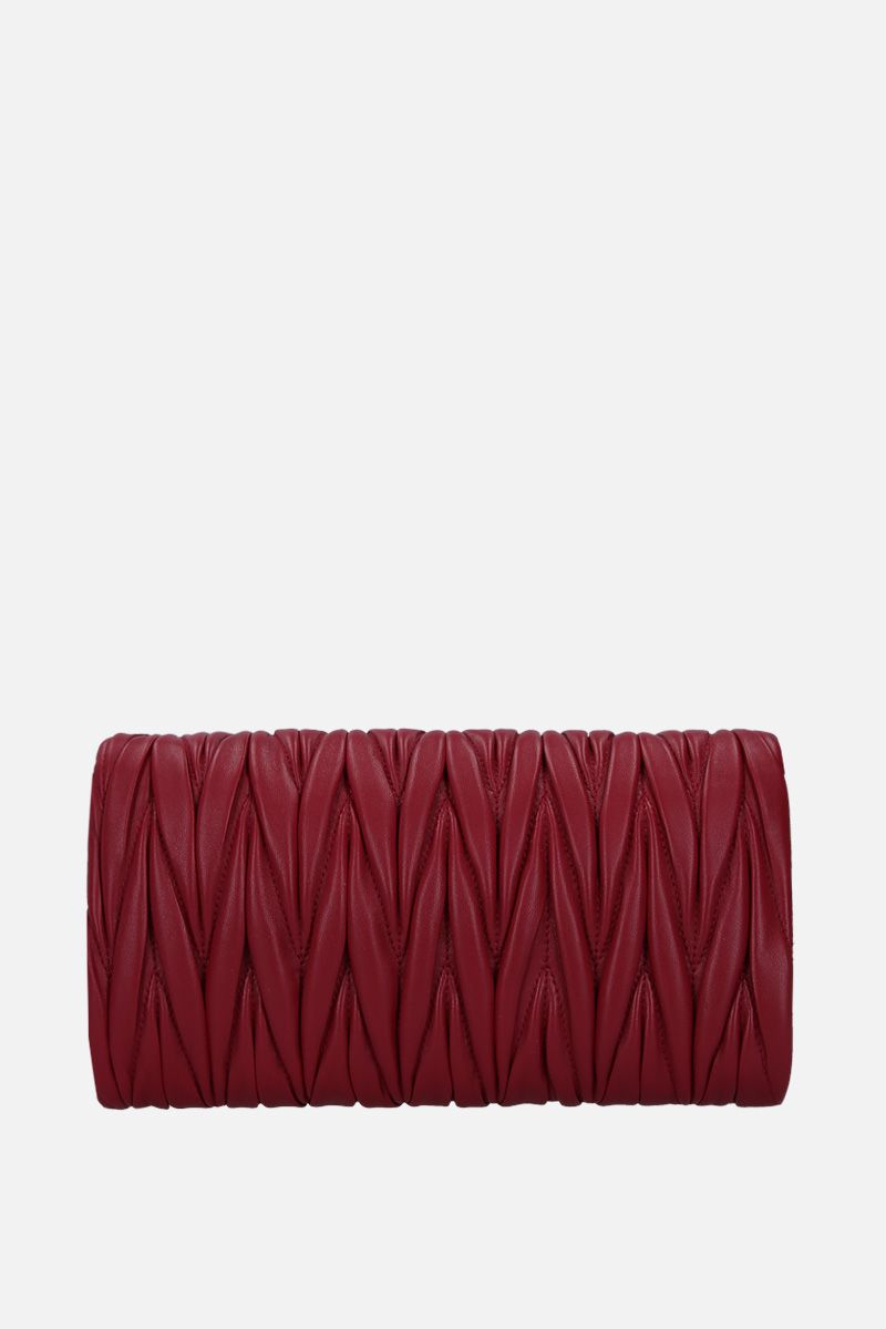 MIU MIU: mini crossbody bag in quilted nappa Color Red_4