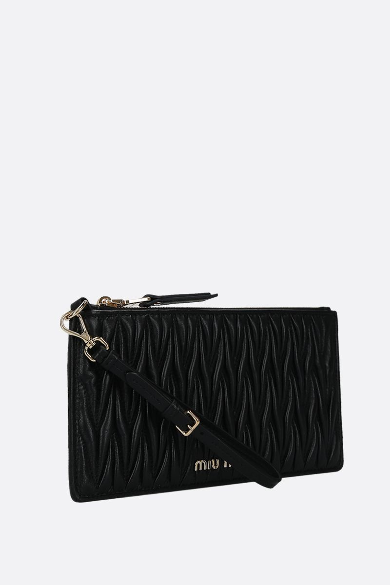 MIU MIU: quilted nappa pouch Color Black_2