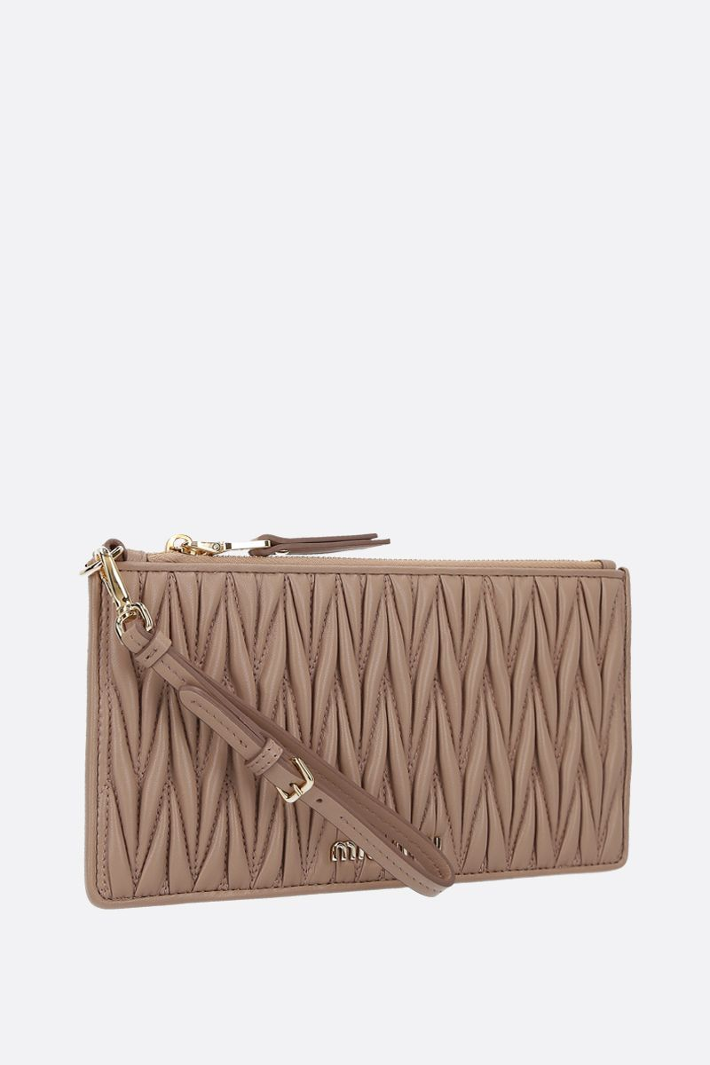 MIU MIU: quilted nappa pouch Color Neutral_2