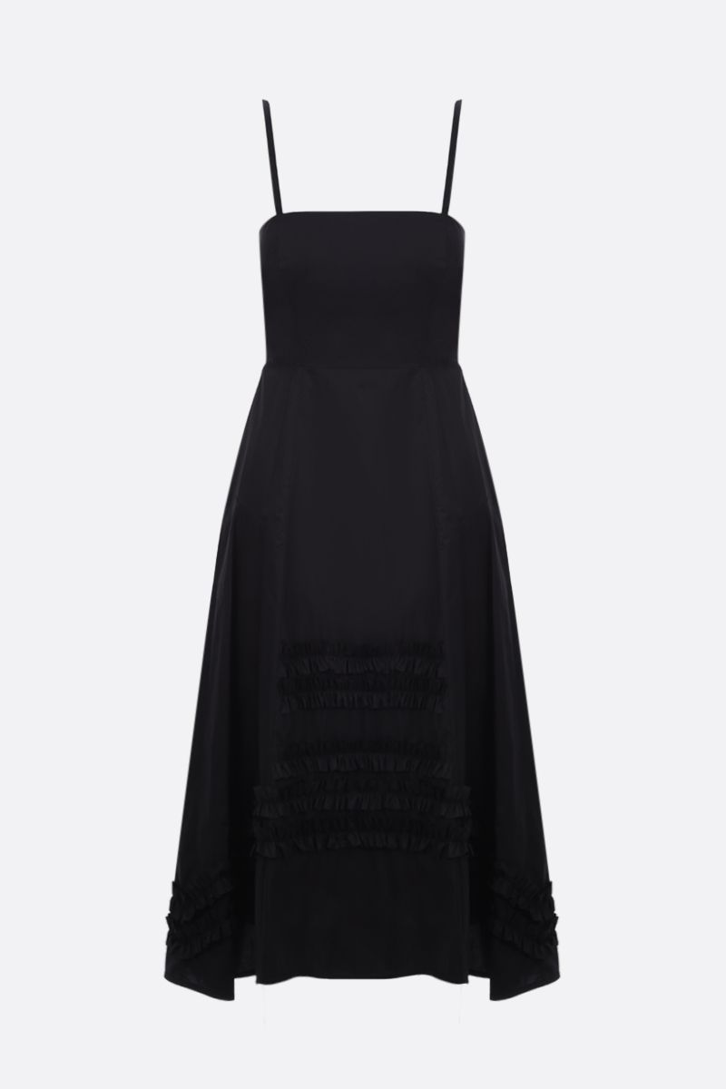 MOLLY GODDARD: Flavio cotton midi dress Color Black_1