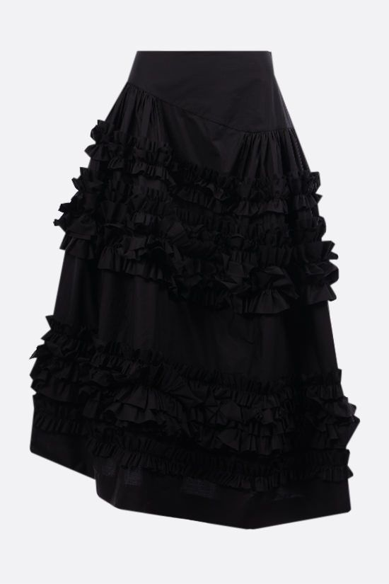 MOLLY GODDARD: Otis ruches-detailed poplin skirt Color Black_1