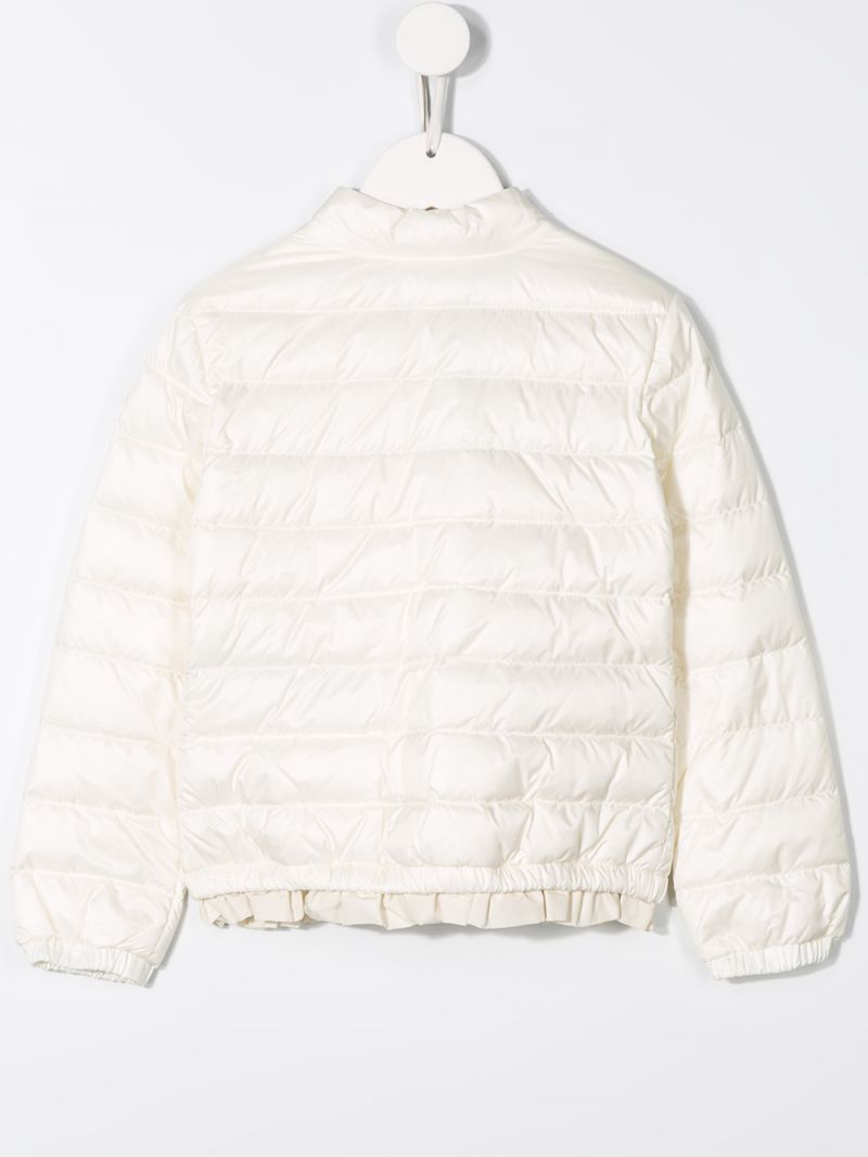 MONCLER KIDS: Violette down jacket in nylon Color White_2