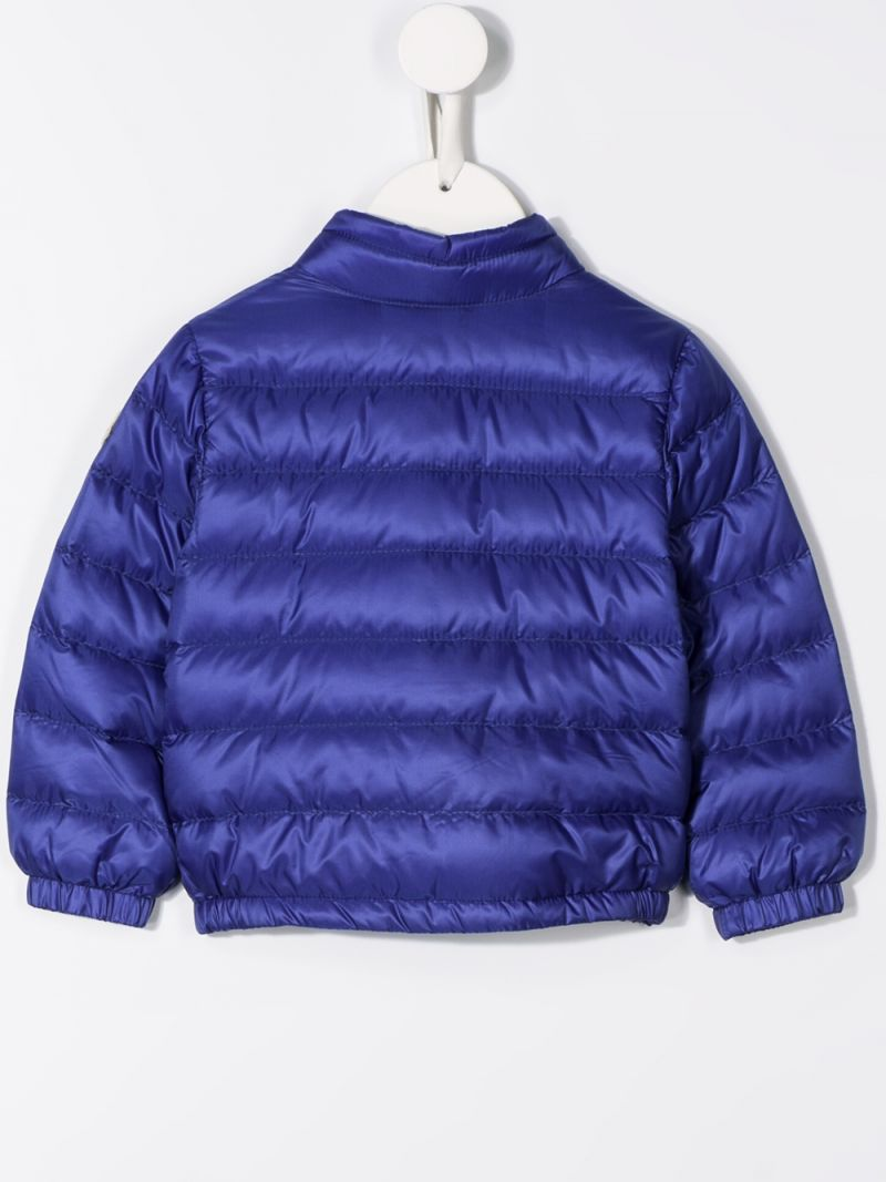 MONCLER KIDS: Acorus nylon down jacket Color Blue_2