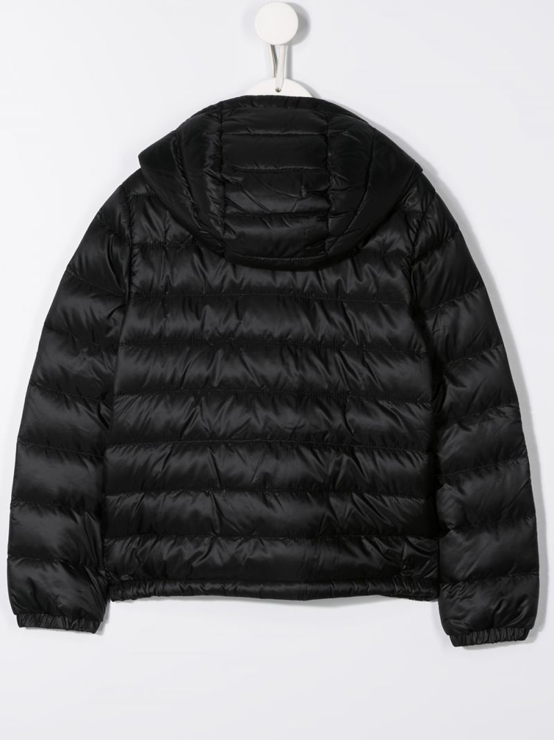 MONCLER KIDS: Rook down jacket in nylon Color Black_2