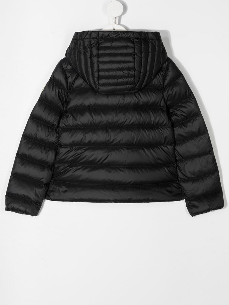MONCLER KIDS: Glycine nylon down jacket Color Black_2