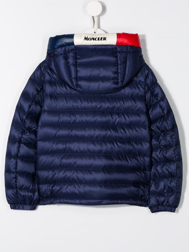 MONCLER KIDS: Sureau down jacket in nylon Color Blue_2