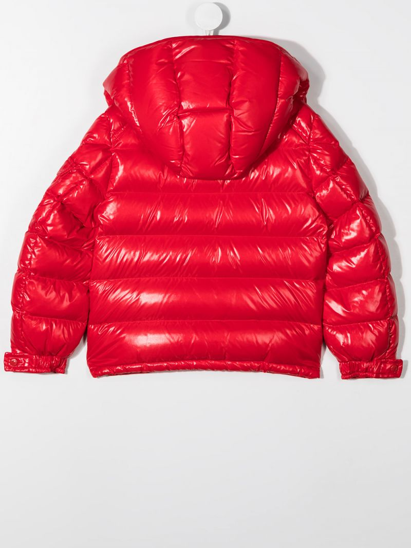MONCLER KIDS: New Maya laquè nylon down jacket Color Red_2