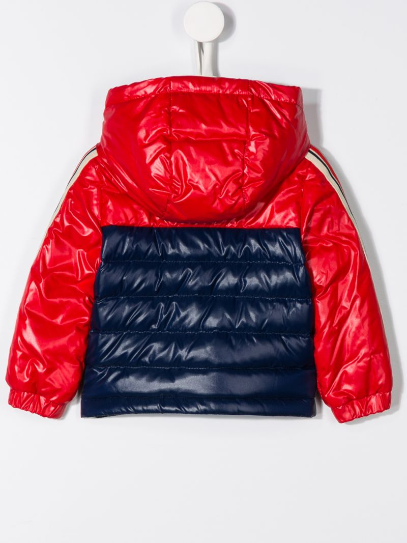 MONCLER KIDS: Jonc down jacket in colour-block nylon Color Blue_2