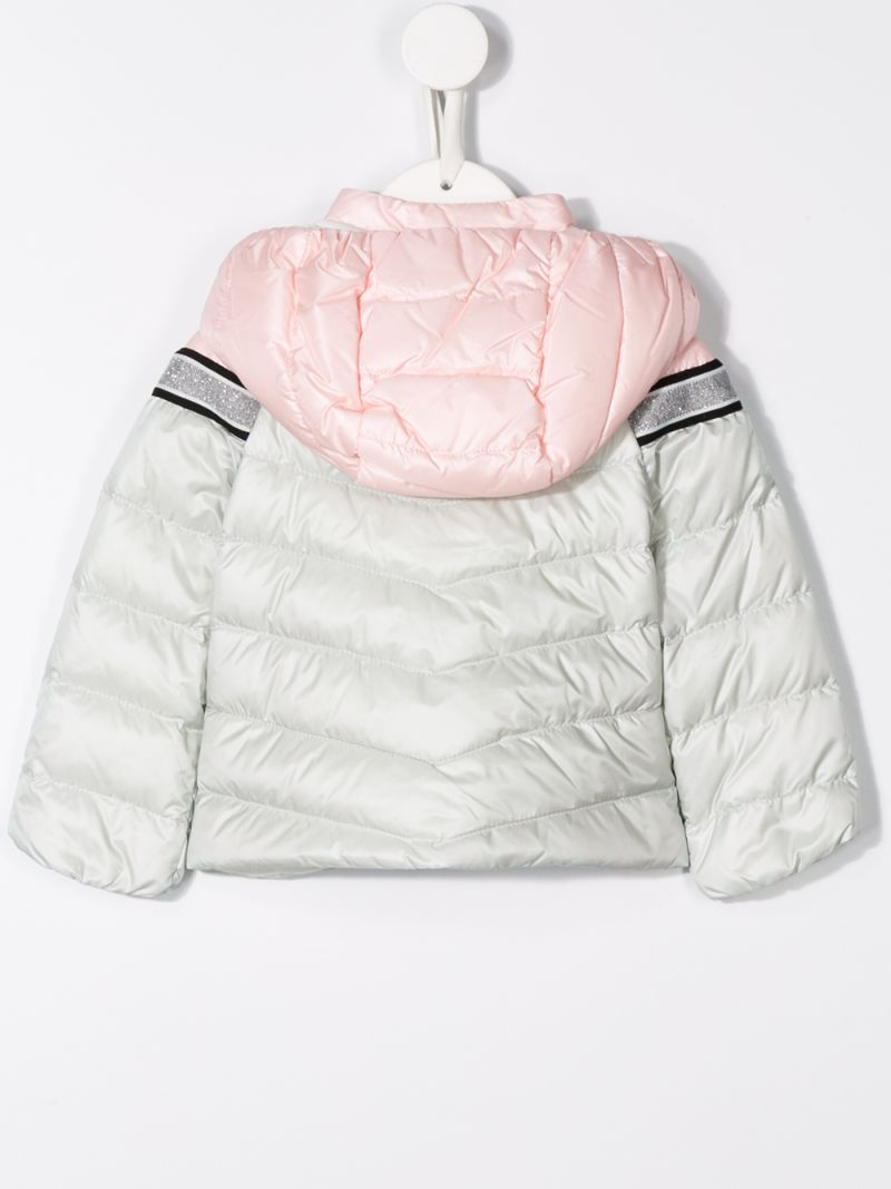MONCLER KIDS: Marik down jacket in colour-block nylon Color Pink_2