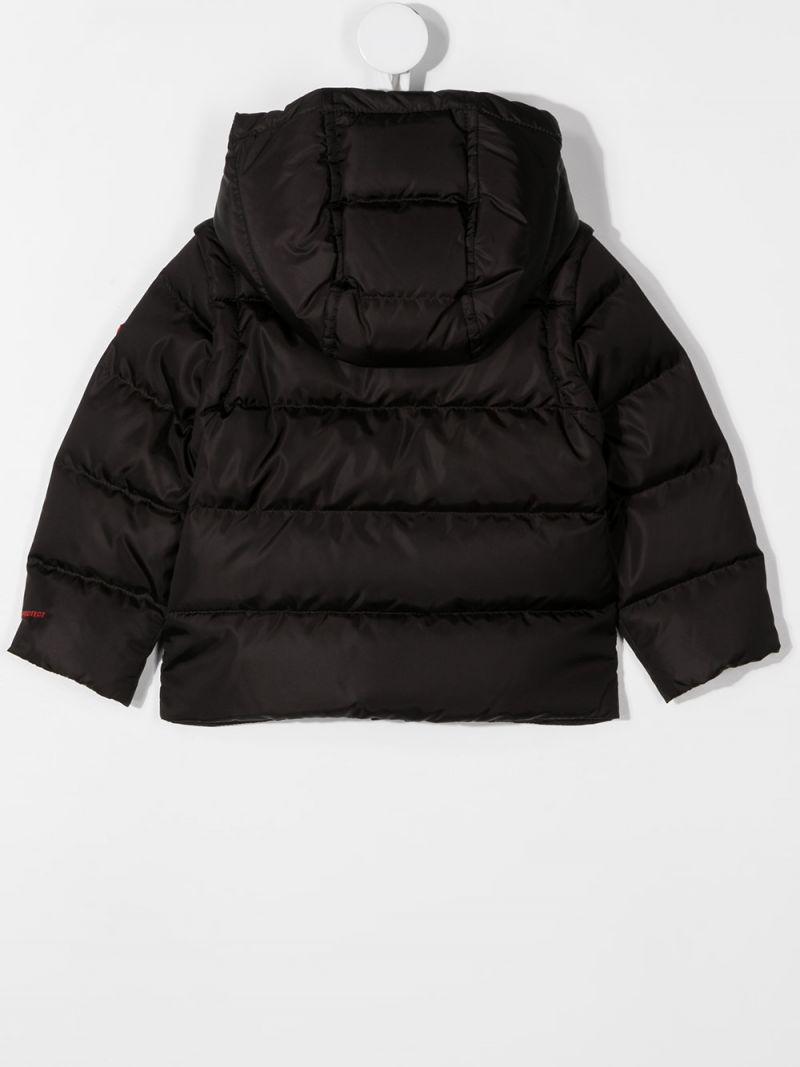MONCLER KIDS: Hasan nylon down jacket Color Black_2