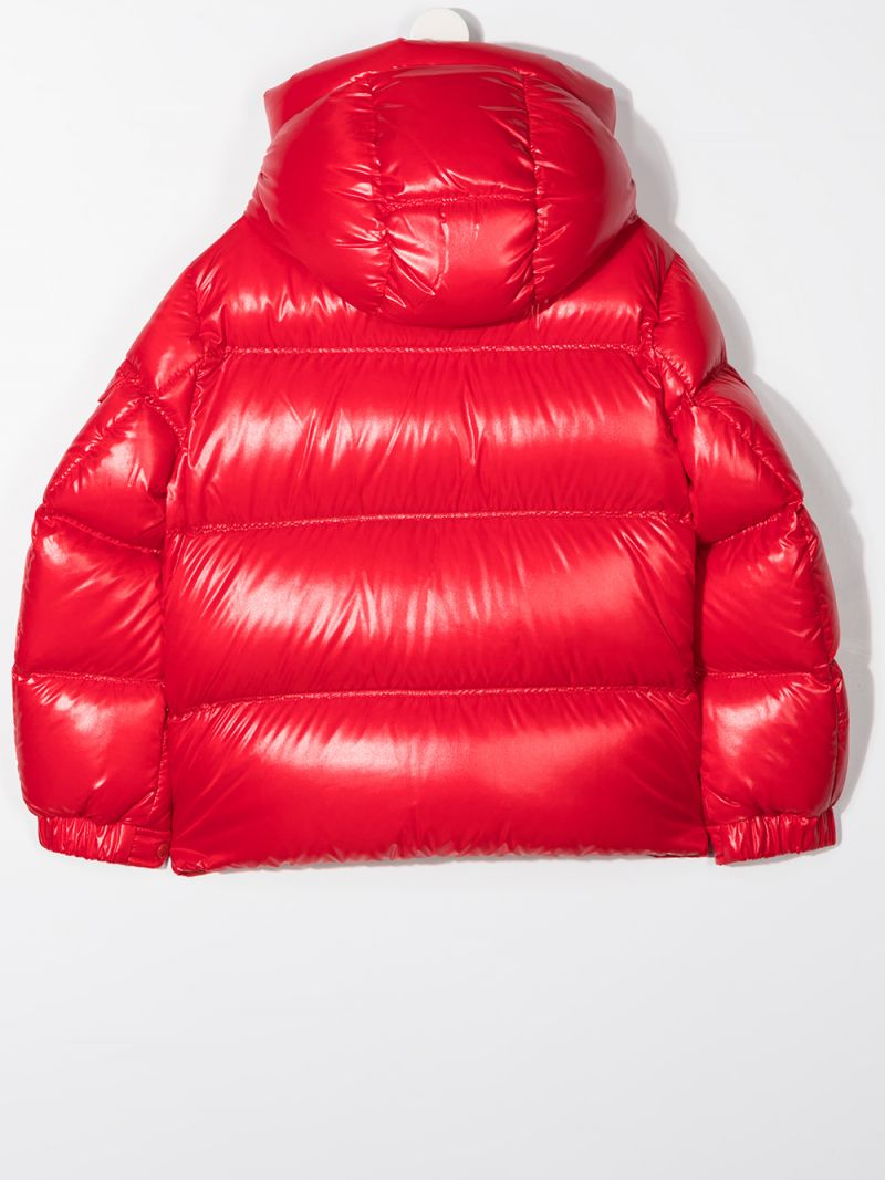 MONCLER KIDS: Ecrins laquè nylon down jacket Color Red_2