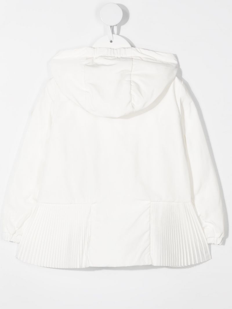 MONCLER KIDS: Eukodie nylon windbreaker Color White_2