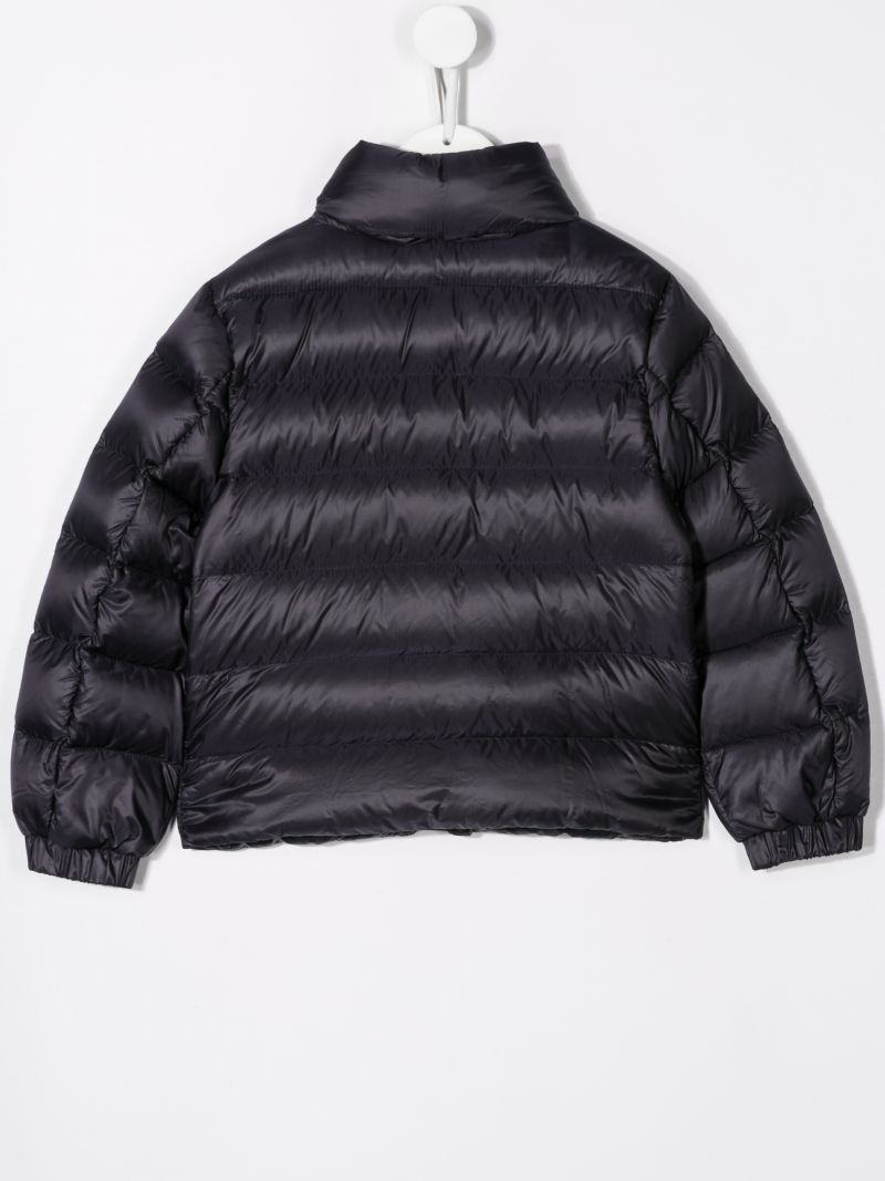 MONCLER KIDS: Servieres nylon down jacket Color Blue_2