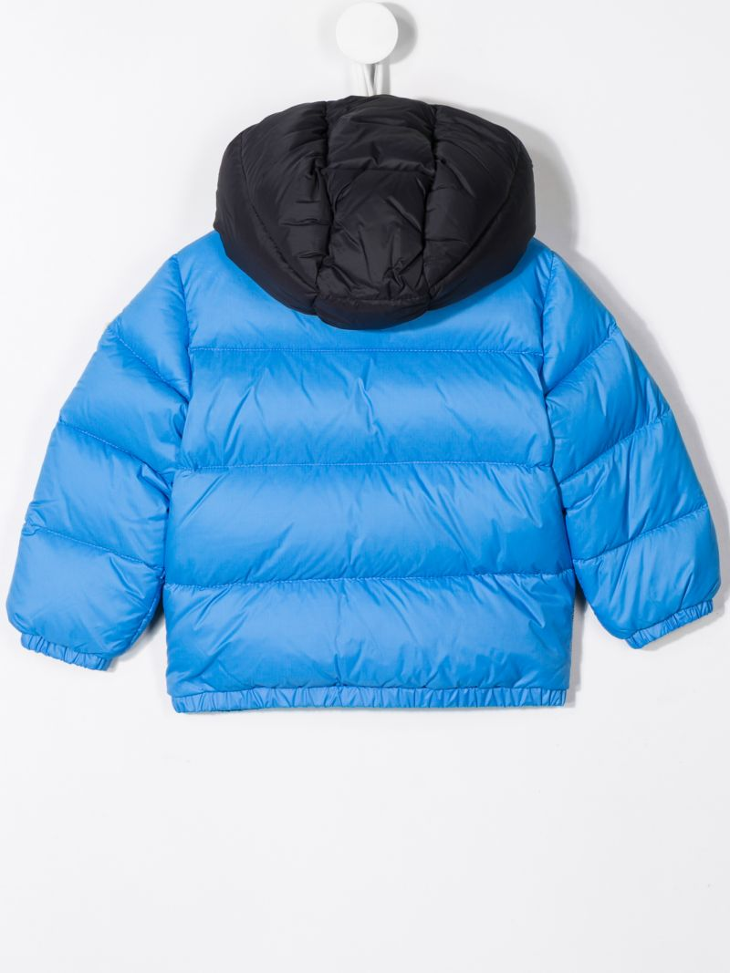 MONCLER KIDS: Perols down jacket in technical fabric Color Blue_2