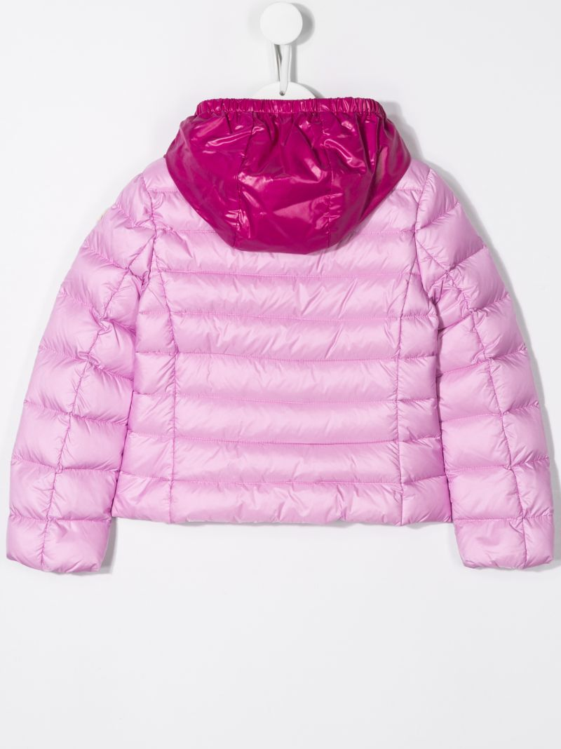 MONCLER KIDS: Landes nylon down jacket Color Pink_2