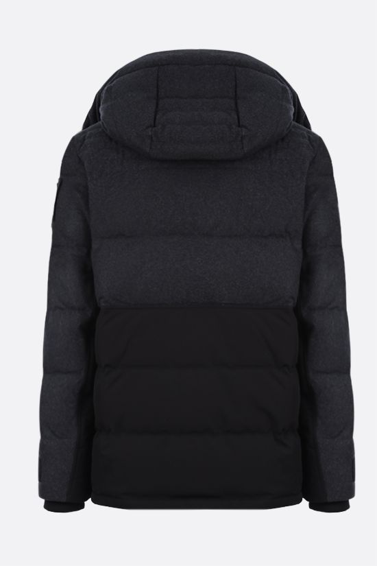 MOOSE KNUCKLES: Flemington wool and technical canvas padded parka coat Color Multicolor_2