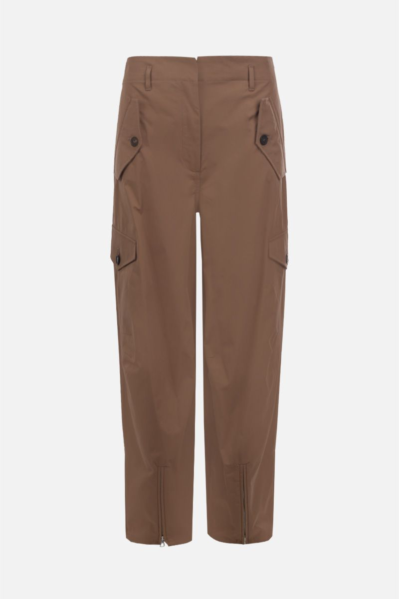FRANKIE MORELLO: cotton cargo pants Color Neutral_1
