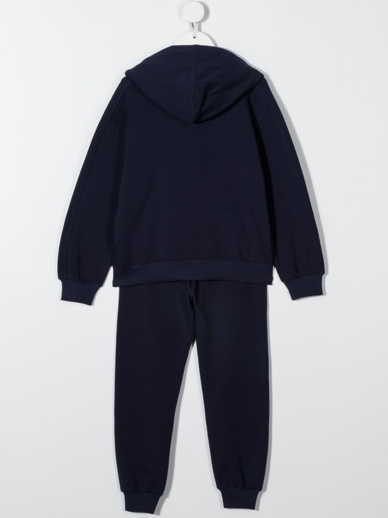 MOSCHINO KIDS: stretch cotton tracksuit Color Blue_2