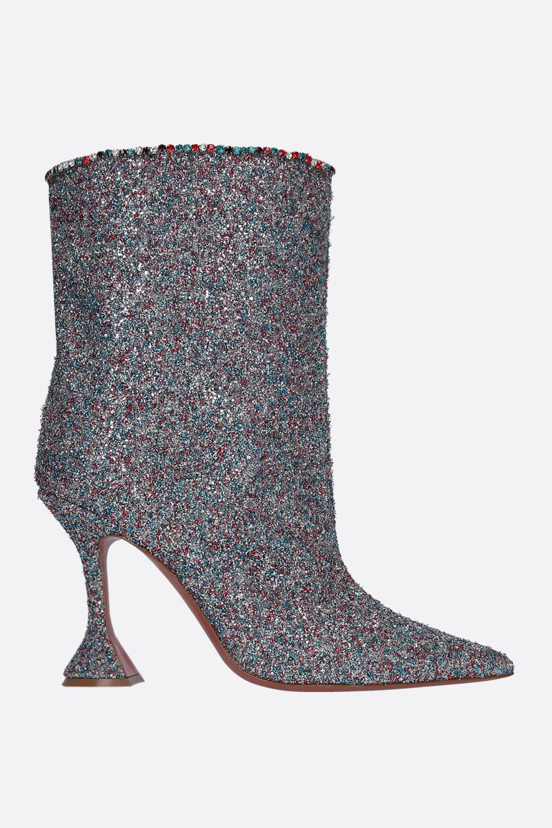 AMINA MUADDI: Mia ankle boots in glitter Color Multicolor_1