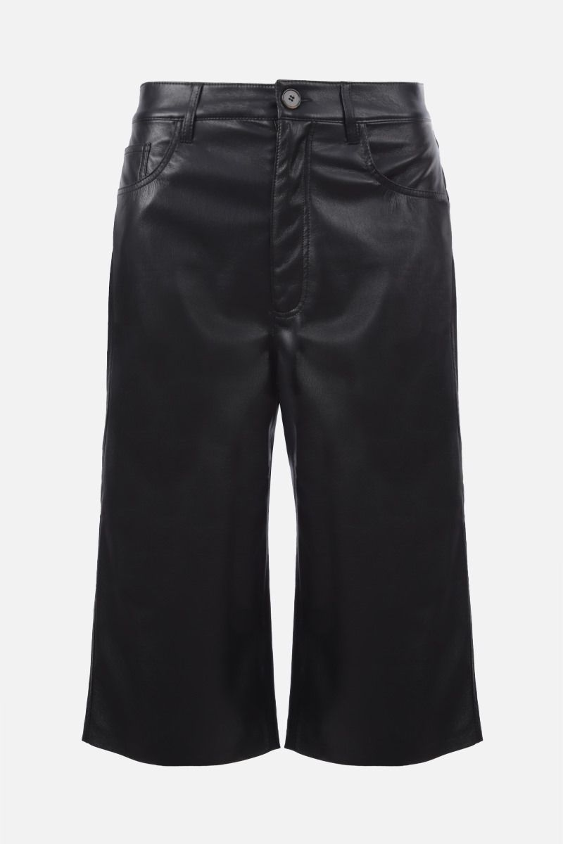 NANUSHKA: Nampeyo vegan faux leather shorts Color Black_1