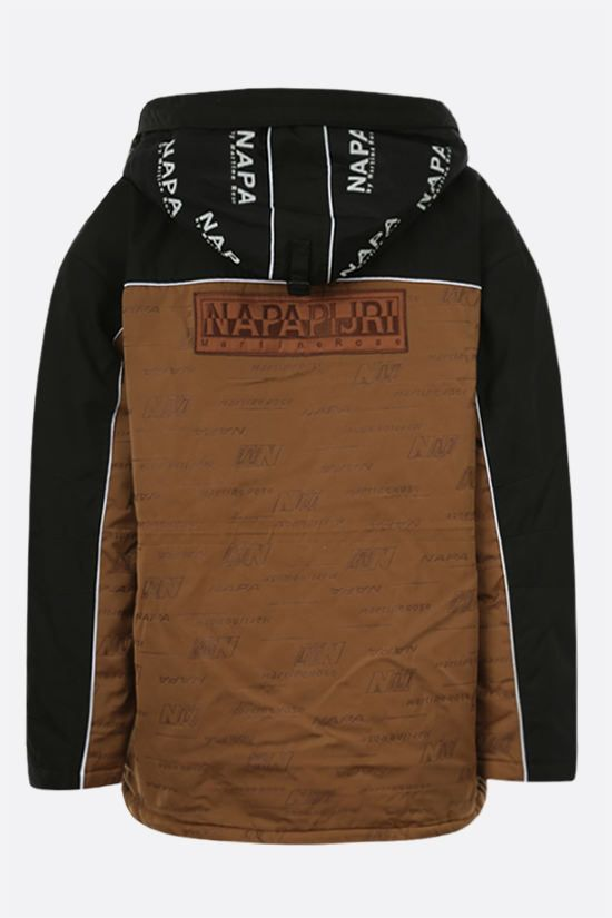 NAPA by MARTINE ROSE: Epoch 4.0 padded jacket in Cordura® fabric Color Brown_2