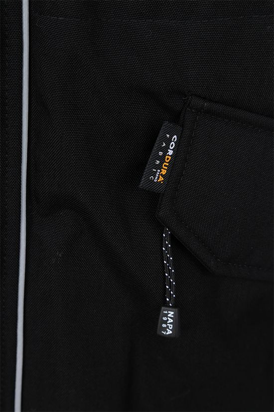 NAPA by MARTINE ROSE: Epoch 3.0 padded jacket in Cordura® fabric Color Black_4