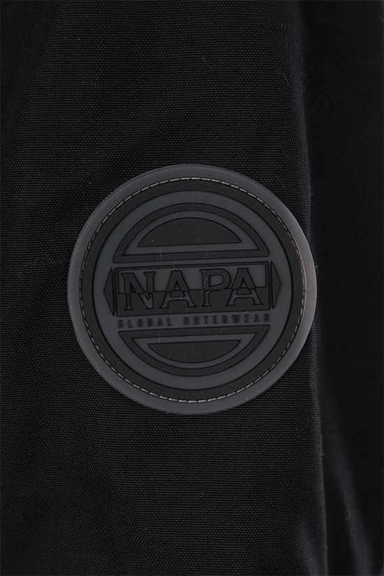 NAPA by MARTINE ROSE: Epoch 3.0 padded jacket in Cordura® fabric Color Black_5