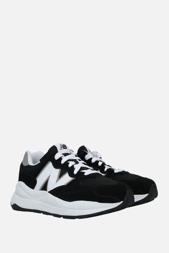 NEW BALANCE: 57/40 suede and mesh sneakers Color Black_2