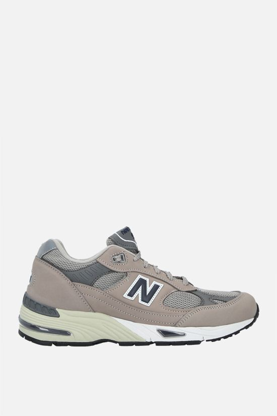 NEW BALANCE: 991 sneakers in a mix of materials Color Grey_1