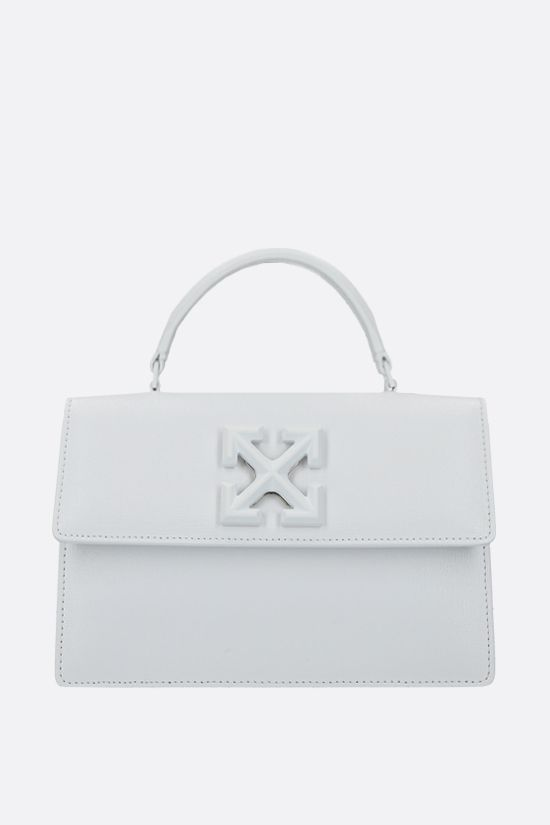 OFF WHITE: Jitney 1.4 textured leather handbag Color Multicolor_1