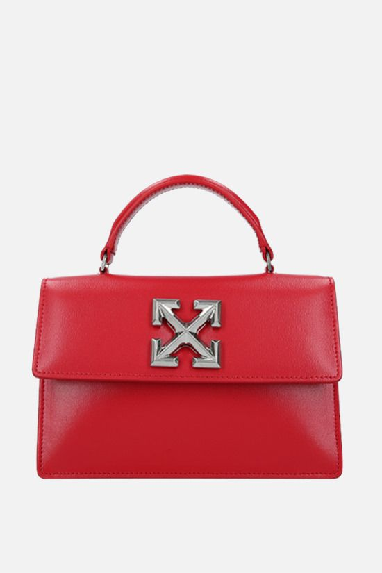 OFF WHITE: Jitney 1.4 smooth leather handbag Color Red_1