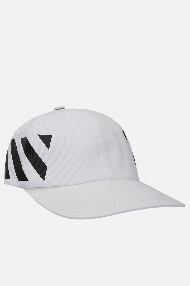 OFF WHITE: Diagonals baseball cap in gabardine Color Black_2