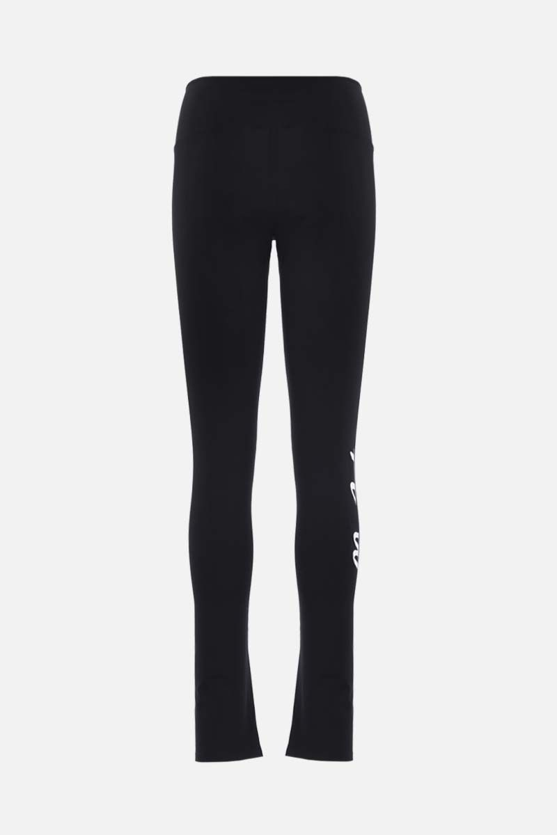 OFF WHITE: Athleisure technical fabric leggings Color Black_2