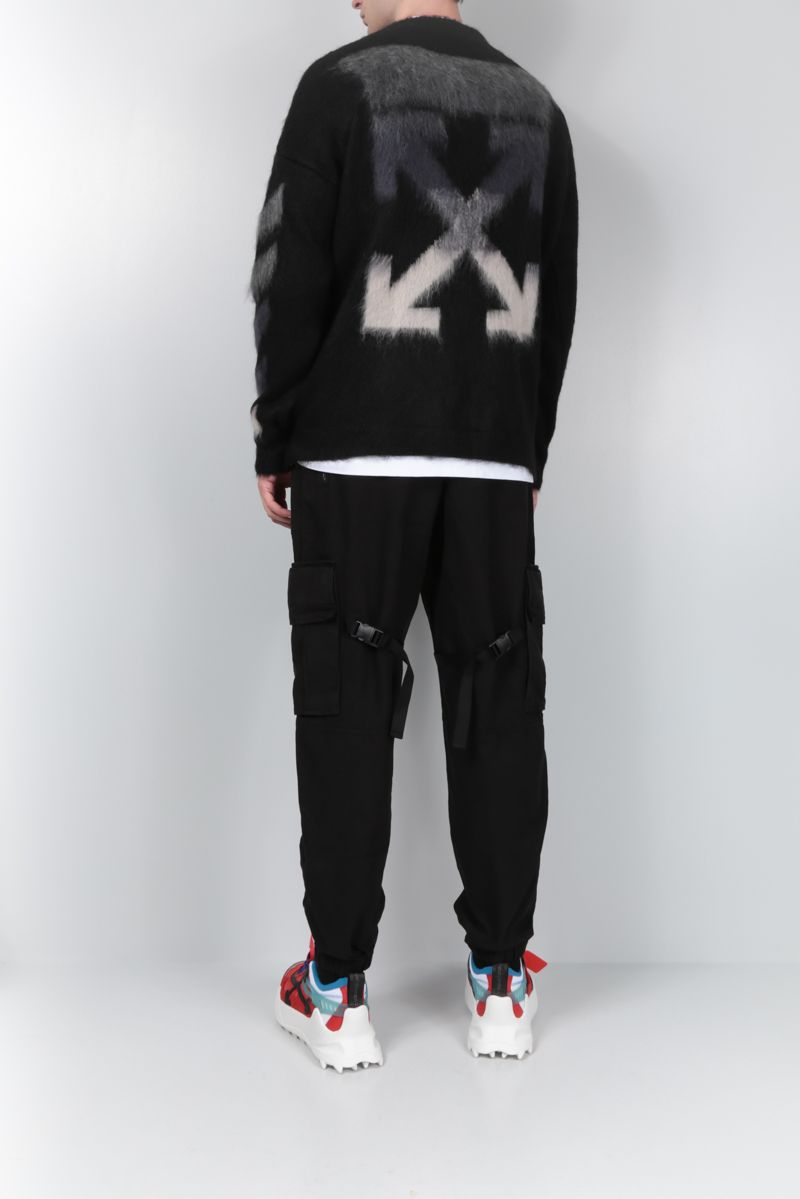 OFF WHITE: Arrows intarsia mohair wool blend pullover Color Multicolor_2