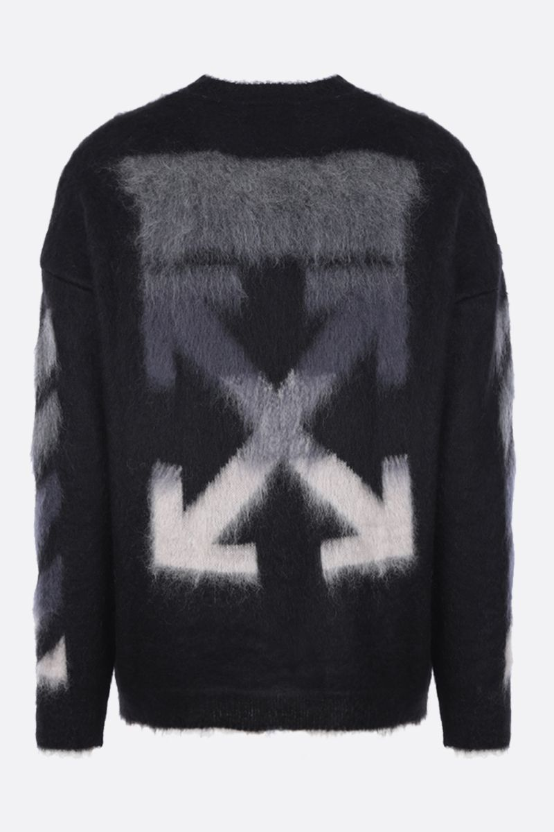 OFF WHITE: Arrows intarsia mohair wool blend pullover Color Multicolor_3