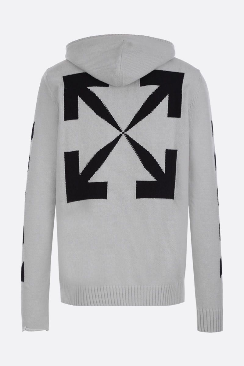 OFF WHITE: Diag Off zip pullover in cotton blend Color Grey_2