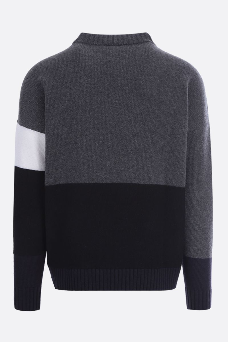 OFF WHITE: Off-White™ intarsia colour-block wool pullover_2