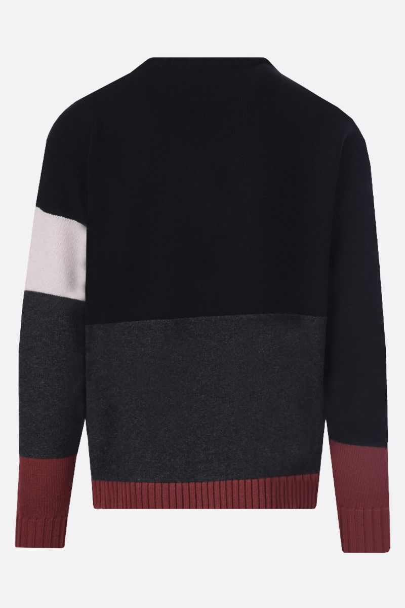 OFF WHITE: Off-White™ intarsia colour-block wool pullover Color Black_2
