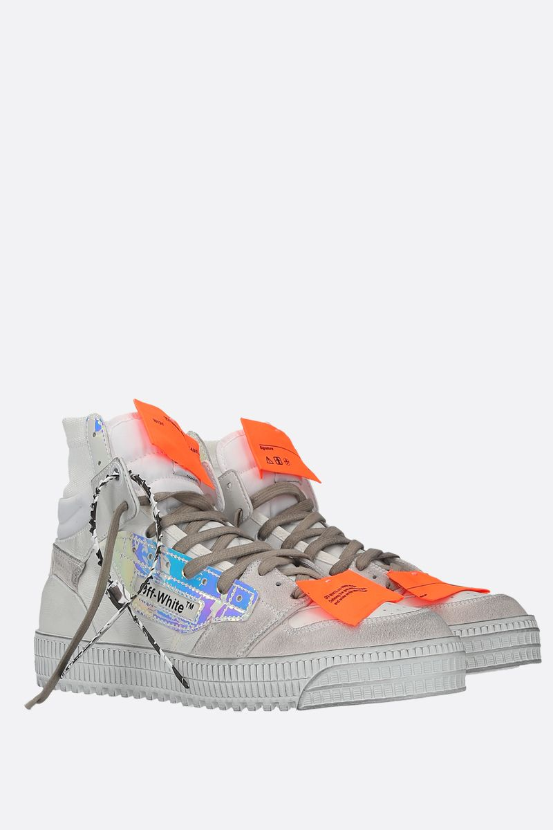 OFF WHITE: Off Court 3.0 smooth leather and suede sneakers Color White_2