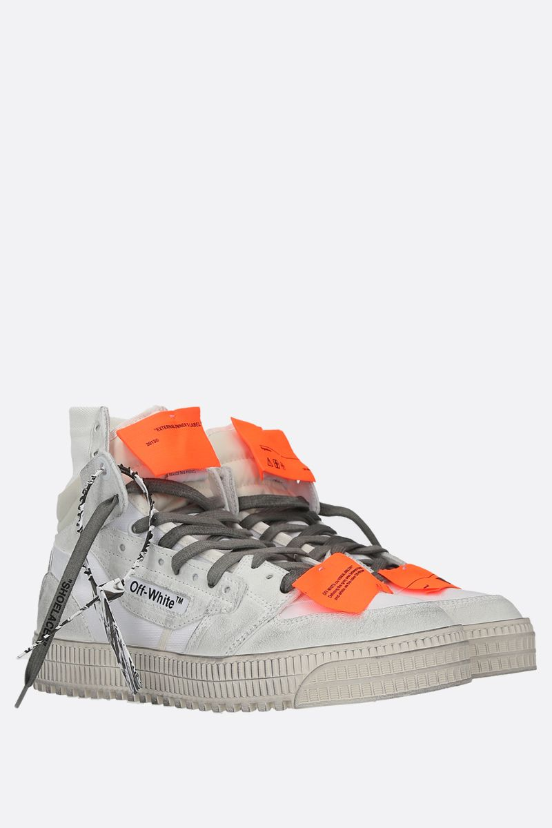 OFF WHITE: sneaker Off Court 3.0 in canvas e suede Colore Bianco_2